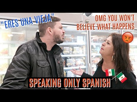MEXICAN Mom & WHITE Husband Go Grocery Shopping SPEAKING ONLY SPANISH: They Get In a FIGHT?!?