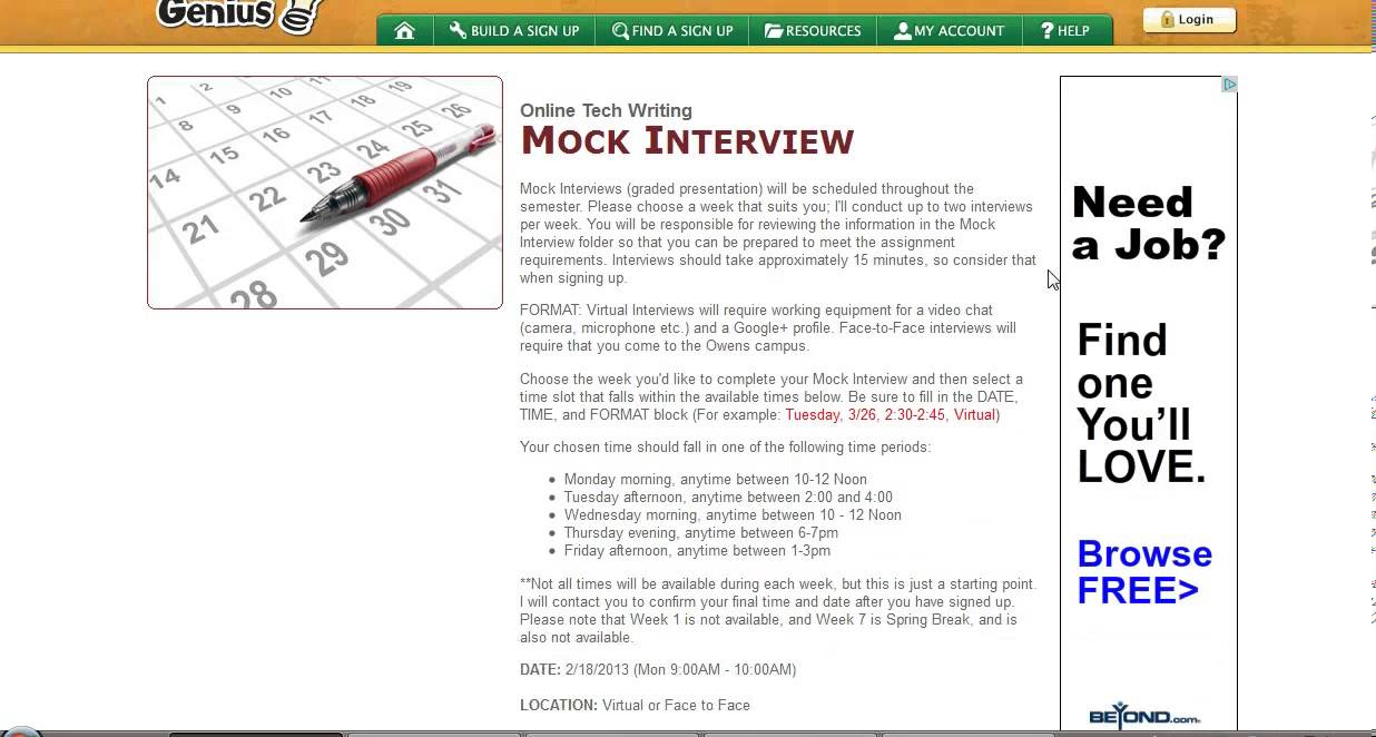 tutorial using signupgenius to schedule a mock interview tutorial using signupgenius to schedule a mock interview