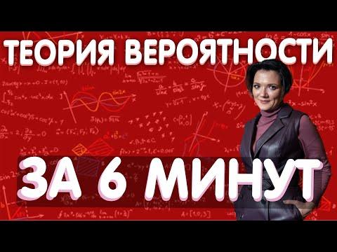 Теория вероятности за 6 минут  ЕГЭ  ОГЭ по математике