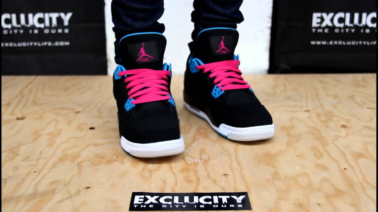separation shoes b0ec6 05128 ... clearance air jordan 4 retro gg denim 3 air jordan iv gs black dynamic  blue white