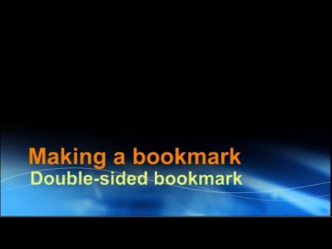 Making a double sided bookmark using word youtube for Double sided bookmark template