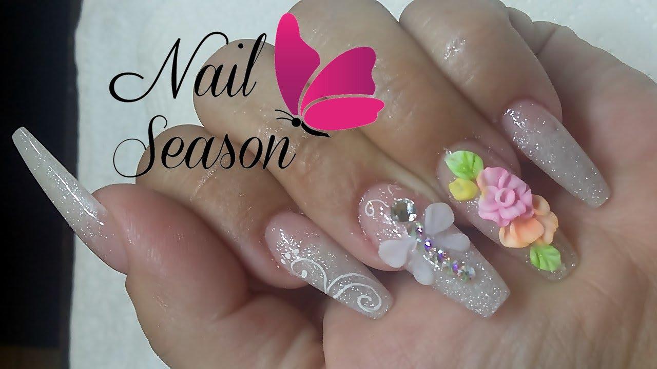 Acrylic nails 3d flower easy nail art tutorial for beginners 2016 acrylic nails 3d flower easy nail art tutorial for beginners 2016 youtube prinsesfo Gallery