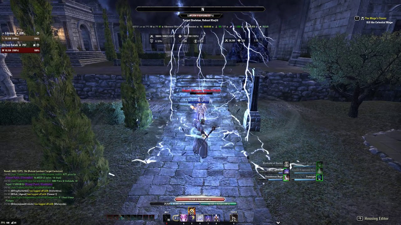 ESO - Magicka Sorcerer Non-Pet Rotation CWC - 40k+ Robust Dummy