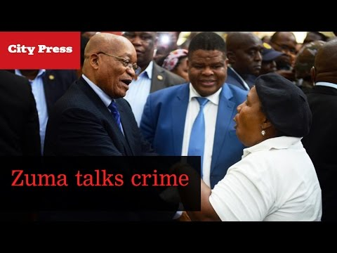 Zuma on crime in Soshanguve