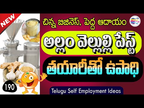 Self employment ideas in telugu   Earn Money with small Home business in telugu - 190