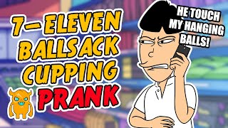 7-Eleven Ballsack Cupping Prank - Ownage Pranks