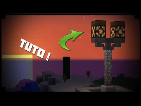 minecraft comment faire un lampadaire