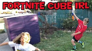 Fortnite Mystery Cube In Real Life- Gameplay Interrupted WHAT'S HAPPENING??!