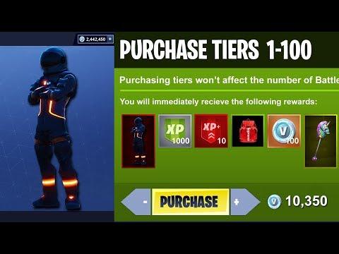 SEASON 3 Unlocking ALL 100 Tiers! ( Battle Pass Update in Fortnite )