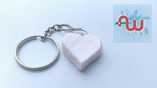 How to make a heart shaped keychain | heart shape key ring | diy keychain