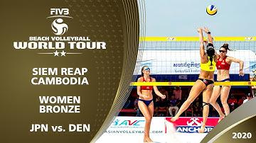 Women's Bronze Medal: JPN vs. DEN | 2* Siem Reap (CAM) - 2020 FIVB Beach Volleyball World Tour
