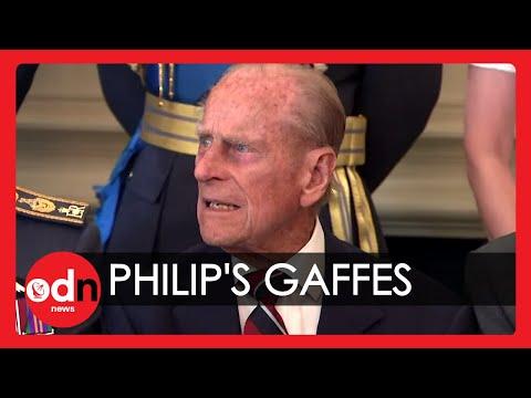 The Duke Of Edinburgh's Greatest Gaffes Caught On Camera