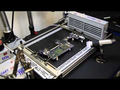 TFix MacBook Pro GPU ATI Soldering Using Infrared BGA Rework Station At SMT Lab