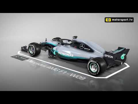 The Mercedes W09  3d animation detailed by Scarbs