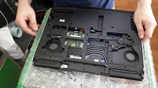 Dell Alienware 17 R4 - разборка, замена термопасты / disassembly, replacement of thermal paste