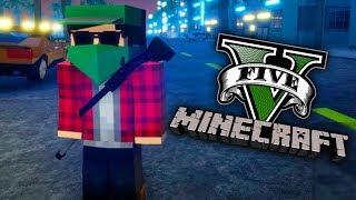 GTA V Minecraft - O JOGO MUNDO ABERTO e GUERRA DE GANGUE!!!