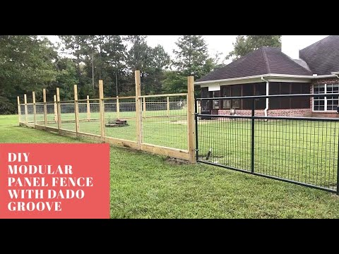 Modular Hogwire Panel Fence with Dado Groove