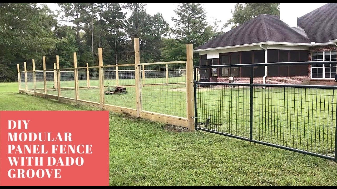 Part 1 Modular Hogwire Panel Fence With Dado Groove You