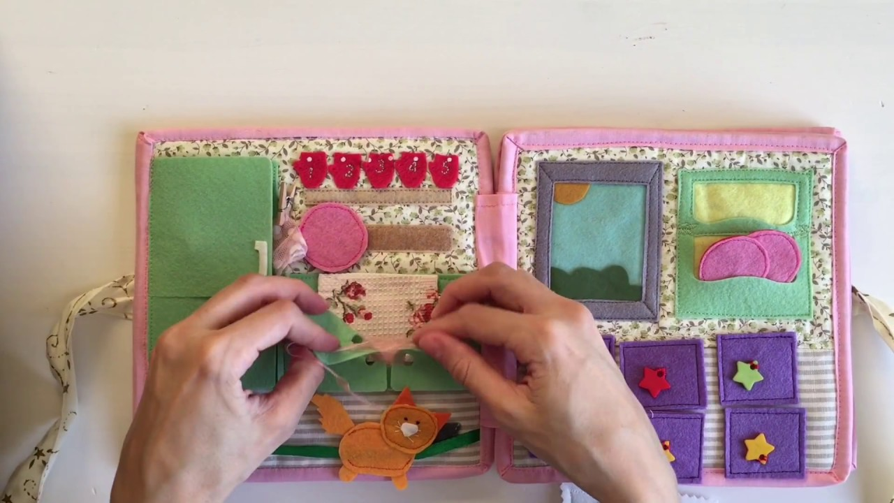 How To Make A Doll House Quiet Book Youtube