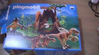 Патрисия показывает свою комнату и покажет вам плеймобиль playmobil Dinos.
