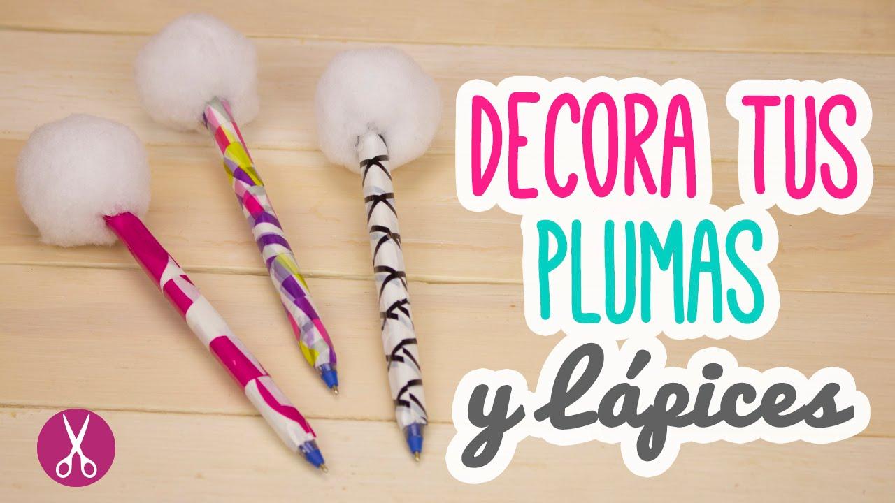 Diy decora tus bol grafos plumas con pompones mini for Manualidades con plumas