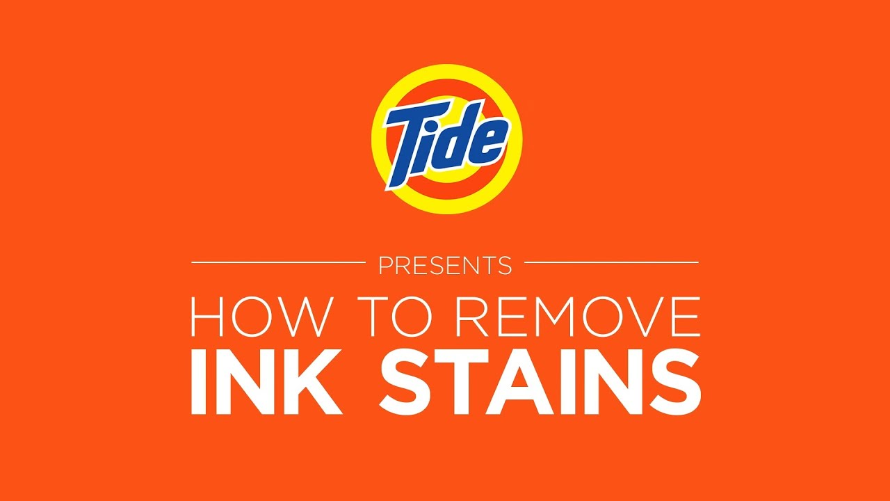 tide laundry tips how to remove ink stains with liquid detergent youtube. Black Bedroom Furniture Sets. Home Design Ideas