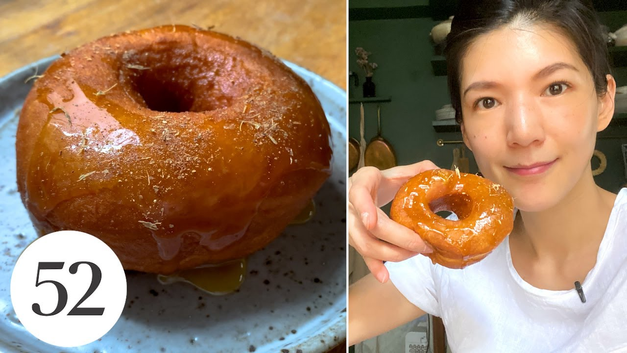 Pillowy-Soft Salted Honey Mochi Bread Doughnuts | At Home With Us
