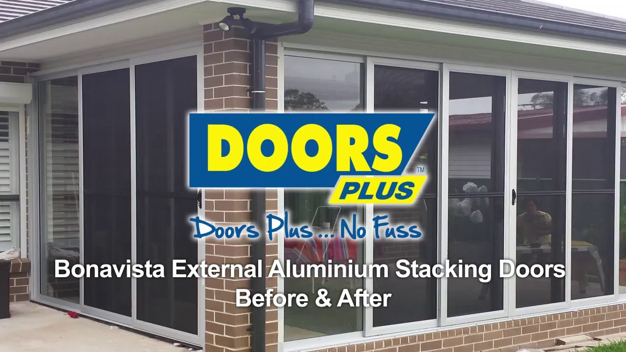 BonaVista | Aluminium External Stacking Doors | Before u0026 After | Doors Plus & BonaVista | Aluminium External Stacking Doors | Before u0026 After ...