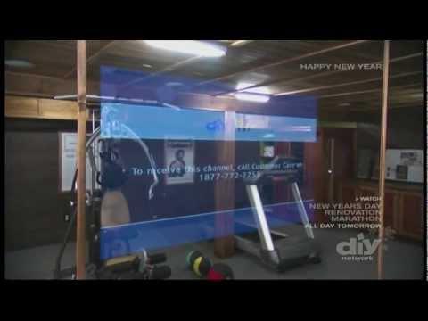 Man Caves - Iron Chef Michael Symon - Mirror TV Gym Basement