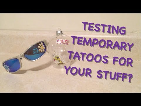 temporary tattoos for your stuff!? (Test that product)