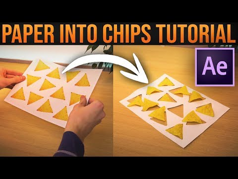 Turning Paper into Potato Chips│After Effects VFX Tutorial