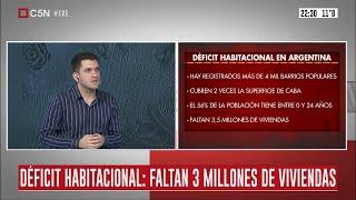 Déficit habitacional en Argentina: faltan 3 millones de viviendas