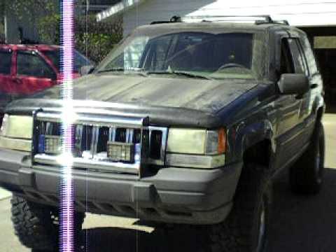 jeep grand cherokee 4 inch lift - YouTube