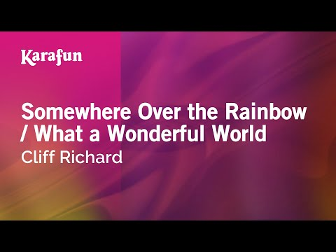 Karaoke Somewhere Over the Rainbow / What a Wonderful World - Cliff Richard *