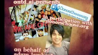 Adam Lambert - DonorsChoose Charity ONTD_AI
