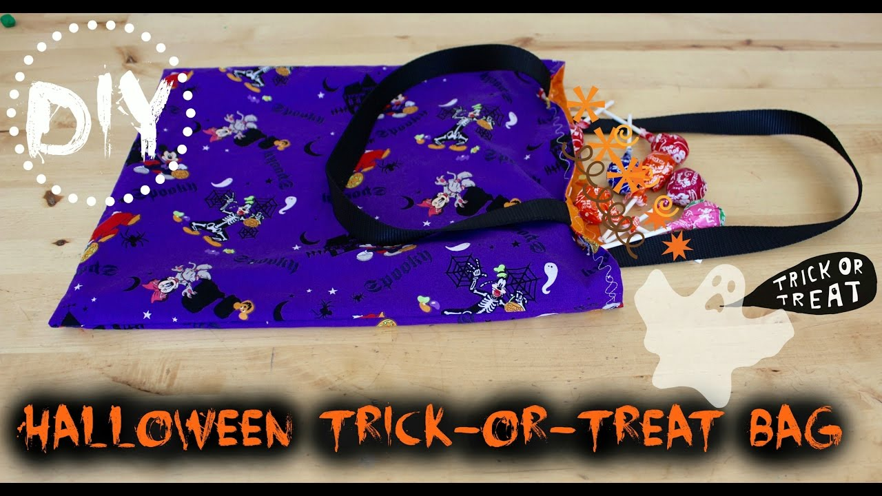 diy halloween trick-or-treat bag | sew in 30 minutes!!! - youtube
