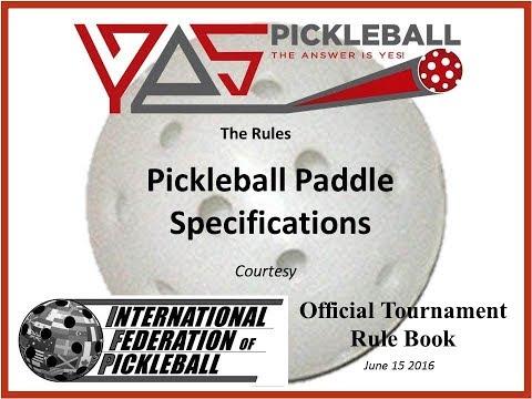 Official Pickleball Rules For Pickleball Paddles