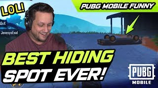 BEST HIDING SPOT EVER! PUBG Mobile FUNNY MOMENTS