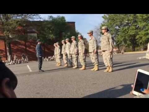 JROTC training how to march