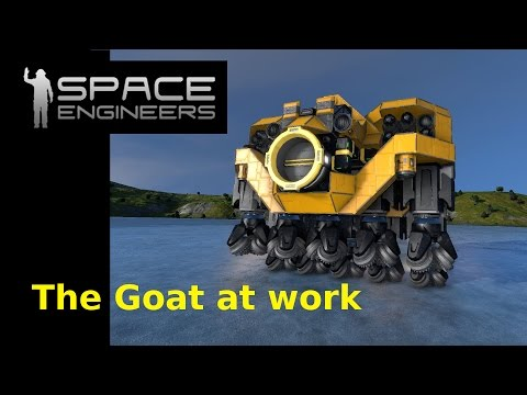 Space Engineers: The Goat At Work (Horizantal Strip Miner)