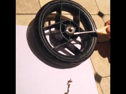 Ремонт колес детской коляски своими руками