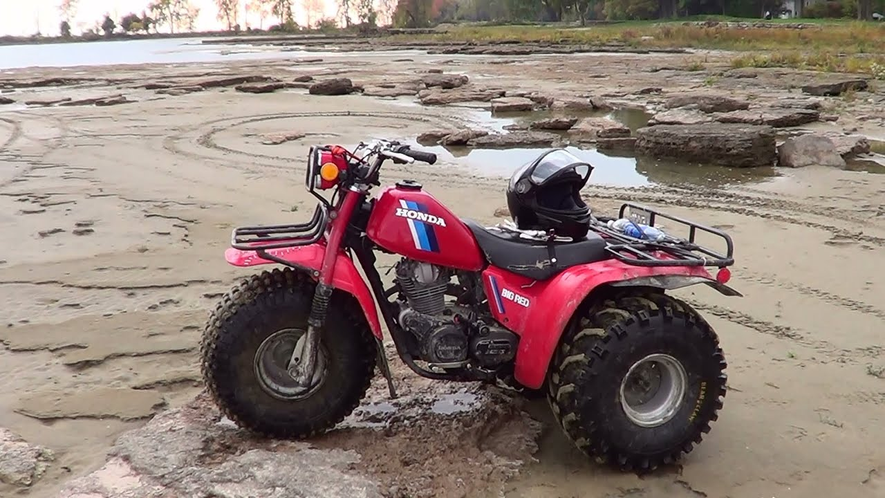 Honda Big Red Atc And Yamaha Big Bear Beach Ride Youtube