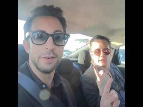 Adam Rose & Chad Lindberg on way to SPN  movie