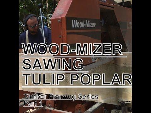 Wood-Mizer Sawing Tulip Poplar