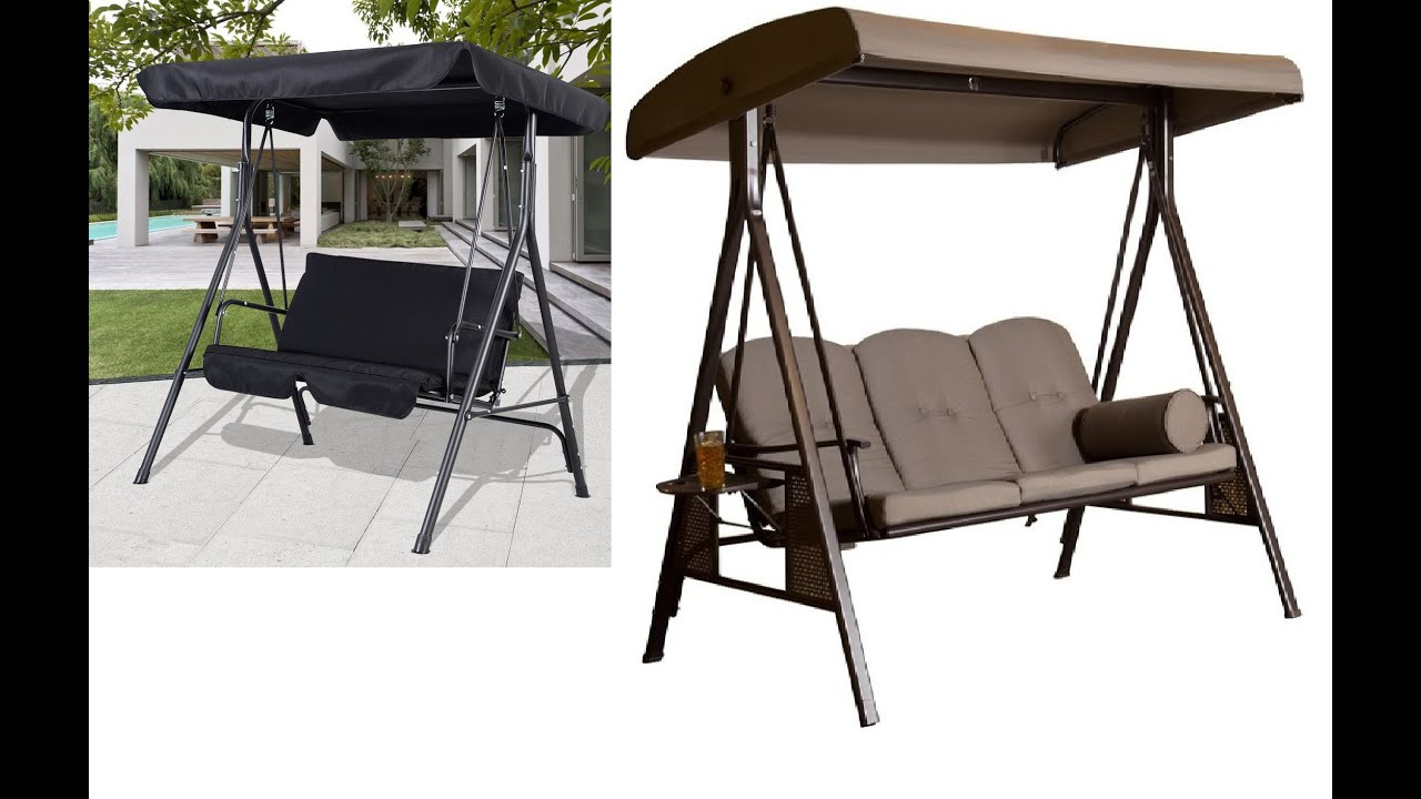 Patio Swings With Canopy - YouTube