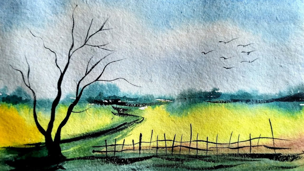 Simple And Easy Landscape In Watercolor