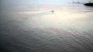 hand made RC Air boat first test - KUWAIT BEACH