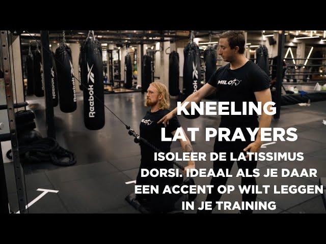 Half kneeling lat prayer