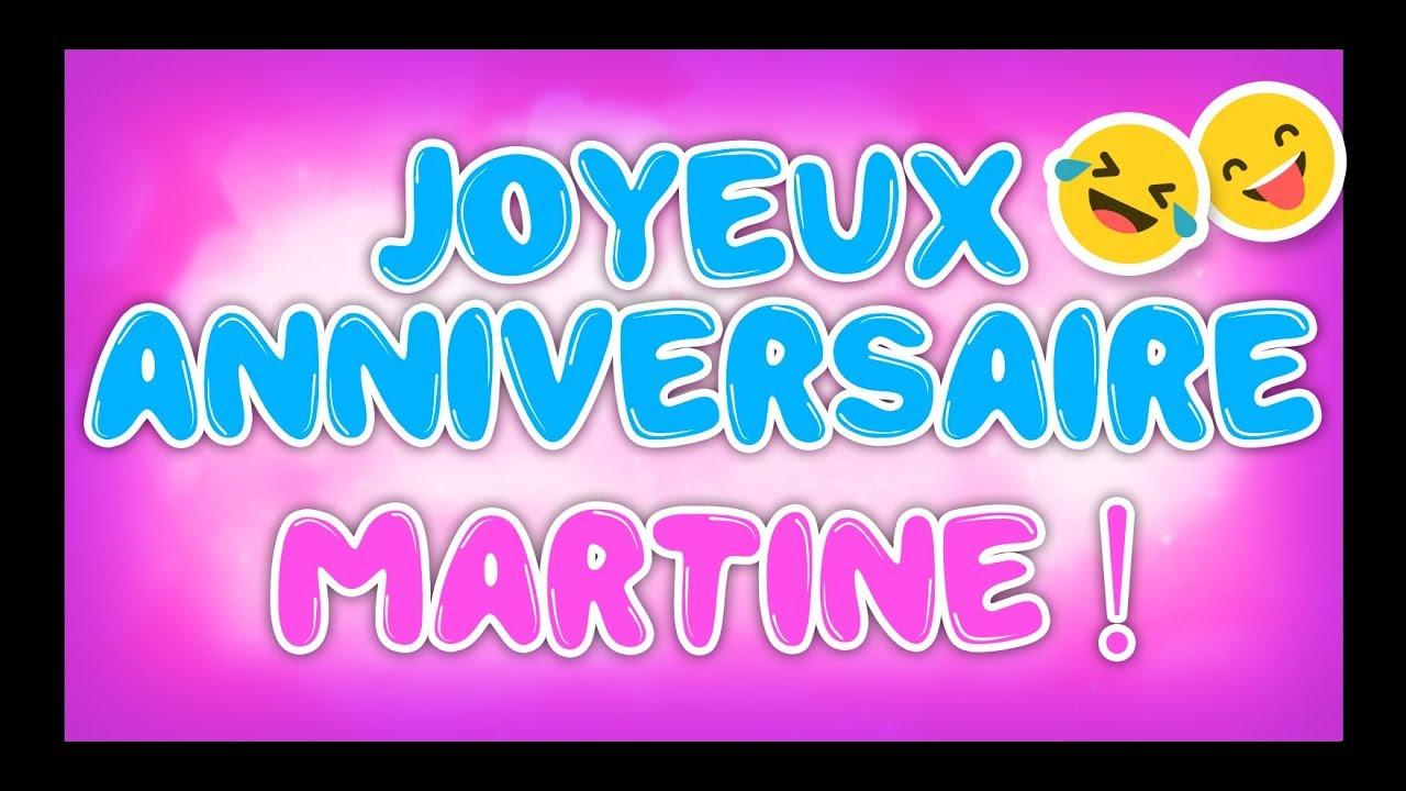 Joyeux Anniversaire Martine Happy Birthday Youtube