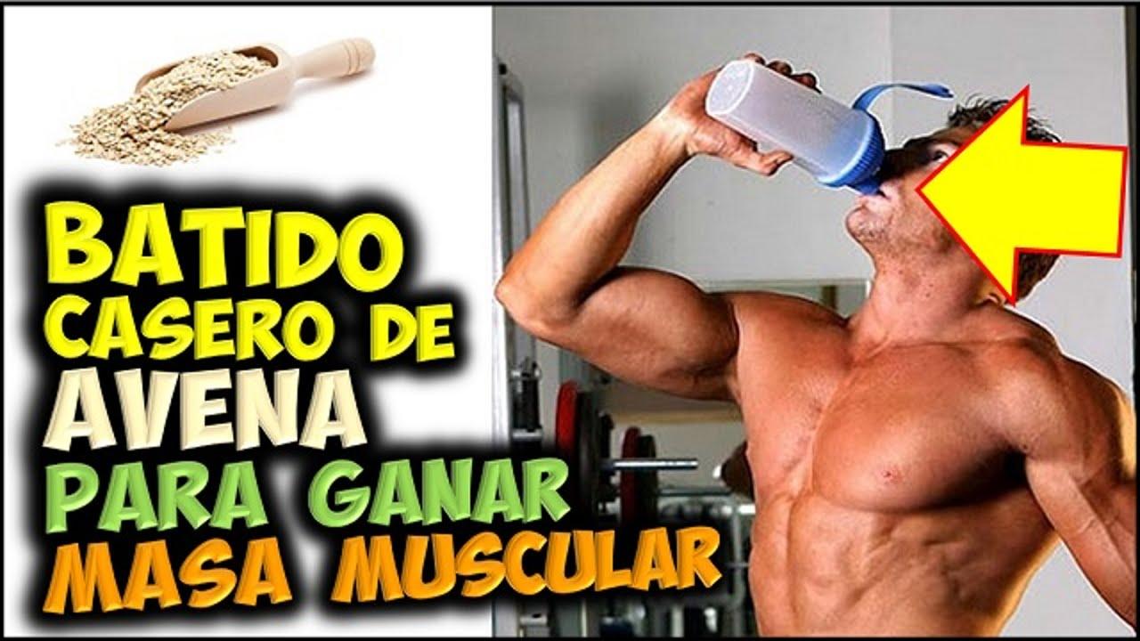 Batidos para aumentar masa muscular con avena